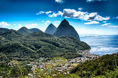 The Pitons Stock Photo