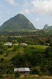 The Pitons in Saint Lucia Stock Photos