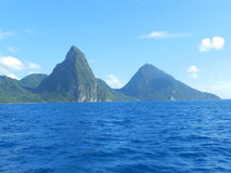 The Pitons, Saint Lucia Royalty Free Stock Photo