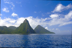 The Pitons Of St. Lucia Stock Photography