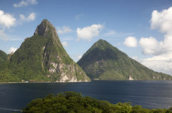 Pitons of St. Lucia stock image