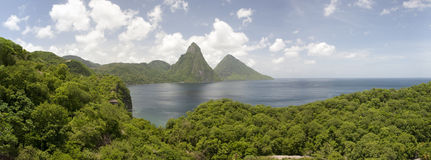 Pitons of St. Lucia royalty free stock photos