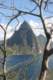 The Pitons, St Lucia, Carribean Royalty Free Stock Photo