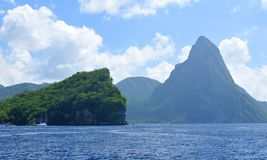 The Pitons royalty free stock photos