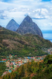 Pitons Valley Royalty Free Stock Photos