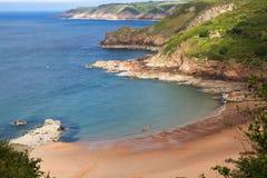 Pitoresco Greve de Lecq Praia, Jersey, Reino Unido Imagem de Stock Royalty Free