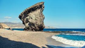 Pitoresco Playa de Los Muertos spain imagem de stock royalty free