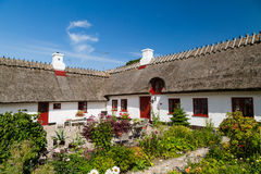 Pitoresque farm house. Traditional white old farm house Stock Photography