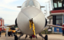 Pitot-static system in airplane Stock Photos