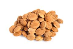 Pits. A heap of apricot pits Royalty Free Stock Photography
