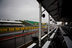 The pits at Montreal Grand prix Stock Images