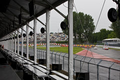 The pits at Montreal Grand prix Stock Photos