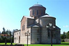 Pitsunda Abchazien, patriark- domkyrka Arkivbilder