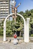 Pitsunda Conjunto escultural de mar Foto de archivo libre de regalías
