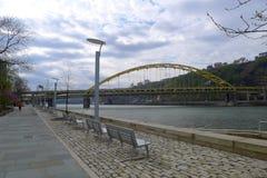 Pitt Bridge forte Fotografia Stock Libera da Diritti