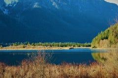 Pitt Lake Mountains Stock Photos