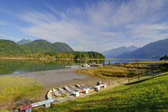 Pitt Lake in Pitt Meadows Royalty-vrije Stock Afbeeldingen