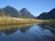 Pitt Lake & Widgeon Creek. Canoe trip on Widgeon Creek in October Royalty Free Stock Photo