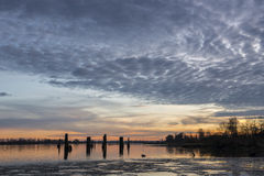 Pitt River Foto de archivo libre de regalías