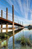 Pitt River Bridge With Clear Skies Stock Images