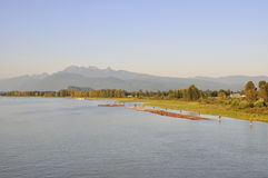 Pitt river at sunset Royalty Free Stock Images