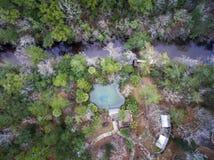 Pitt Springs et antenne de crique d'Econfina Photo stock