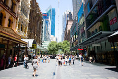 Pitt St Mall stock photography