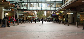 Pitt Street Mall Royalty Free Stock Photo