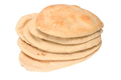 Pitta bread. Isolated on a white background royalty free stock photo