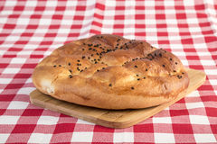 Pitta bread on table for ramadan Royalty Free Stock Images