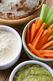 Pitta, Dips and Crudites from Above Royalty Free Stock Photo
