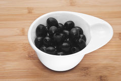 Pitted black olives Royalty Free Stock Photography