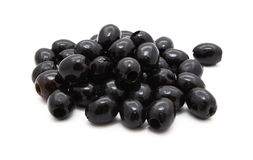 Pitted black olives in oil Royalty Free Stock Photography