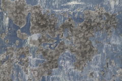 Pitted Blue Metal Panel Grunge Texture Stock Photos