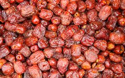 Pitted Chinese jujubes dried Stock Image