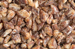 Pitted chopped dates close view with natural light Royalty Free Stock Photo