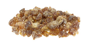 Pitted chopped dates on a white background Royalty Free Stock Image