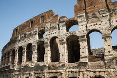 Pitted Exterior of Ancient Coliseum Royalty Free Stock Photos