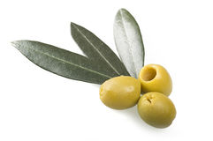 Pitted green olives Royalty Free Stock Photography