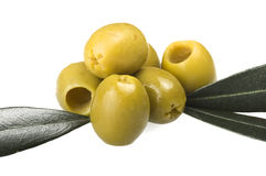 Pitted green olives Royalty Free Stock Photo