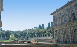 Pitti宫殿和Boboli庭院在佛罗伦萨托斯卡纳 免版税图库摄影