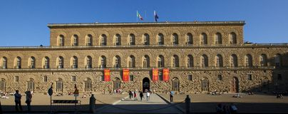 Pitti宫殿 免版税图库摄影
