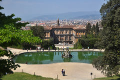 Pitti Palace and Boboli Gardens, Florence Italy Royalty Free Stock Photography