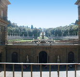 Pitti Palace and the Boboli Gardens in Florence Tuscany Stock Photo