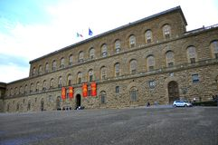 Pitti palace, Florence. Pitti palace in Florence , Italy . The Palazzo Pitti  in English sometimes called the Pitti Palace, is a vast mainly Renaissance palace Royalty Free Stock Photography