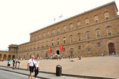 Pitti palace, Florence, Italy. Pitti palace in Florence , Italy . The Palazzo Pitti  in English sometimes called the Pitti Palace, is a vast mainly Renaissance Stock Photography