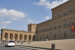Pitti palace, largest museum complex in Florence. Royalty Free Stock Photo