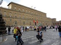 Pitti Palace Tourists Stock Image