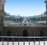 Pitti slott och de Boboli trädgårdarna i Florence Tuscany Arkivfoto