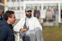 Pitti Uomo 95,佛罗伦萨,意大利 免版税图库摄影